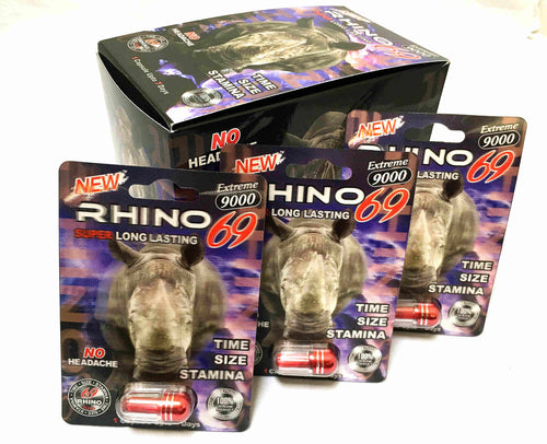 Genuine Rhino 69 Extreme 9000 Male Enhancement Sexual Performance Enhancer