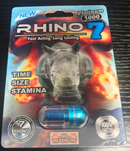 Genuine Rhino 7 Platinum 5000 Male Enhancement Sexual Performance Enhancer
