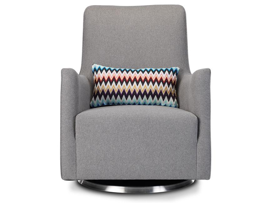 Modern Grazia Glider - heather grey with Missoni pillow shown.