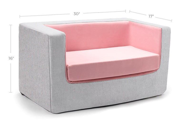 Cubino Foam Kids Couch/Loveseat Dimensions