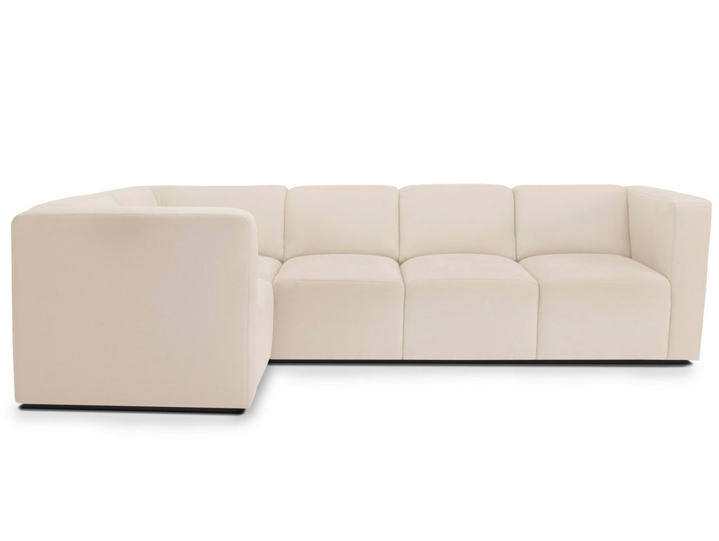 Modern Upholstered The Bruce Sectional 4-seater - beach shown.