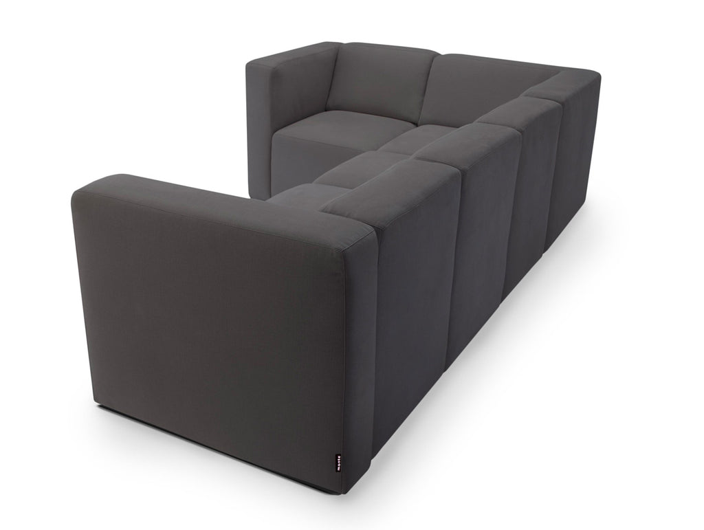 Modern Upholstered The Bruce Sectional 4-seater - carbon shown.