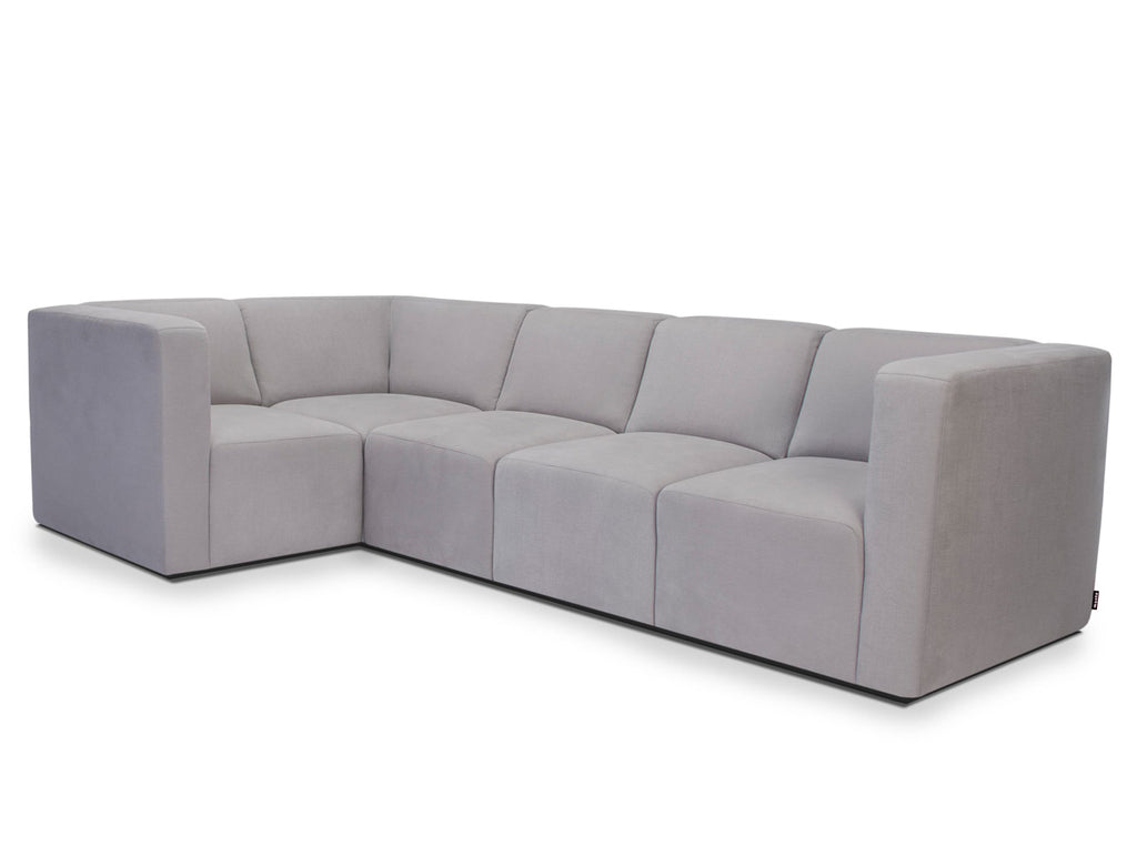 Modern Upholstered The Bruce Sectional 4-seater - smoke shown.