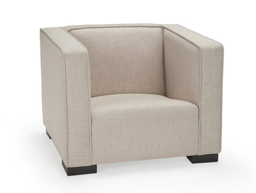 Modern Upholstered Opie Kids Chair - Sand body shown.