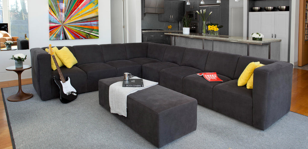The Bruce Sectional - Modern Upholstered Sectional for your home.