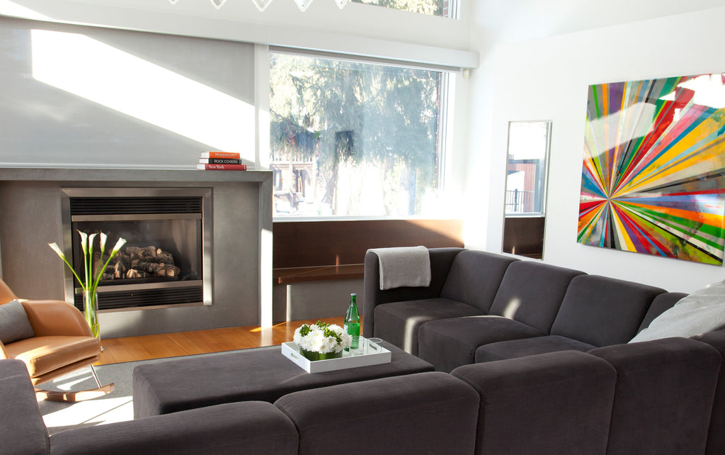 Modern Upholstered The Bruce Sectional 5-seater with Ottoman
