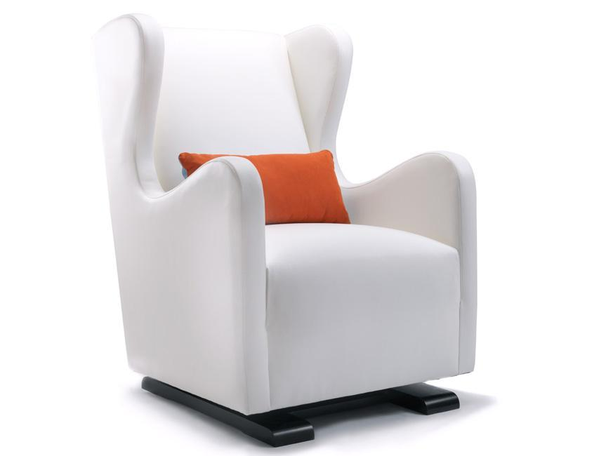 Modern Vola Glider -  white with orange pillow shown.