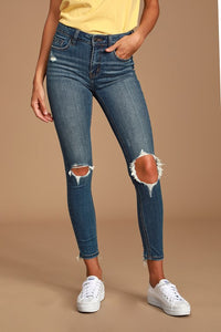 Clara High-Rise Skinny - Fair Chance Distressed