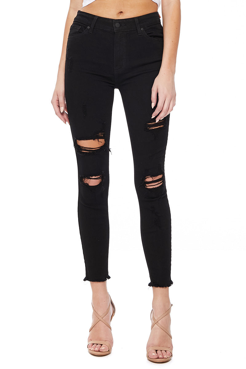 Clara High Rise Skinny - Omen Black