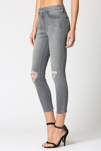 Dylan High Rise Skinny - Gray