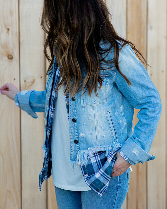 Hayes Distressed Denim Jacket