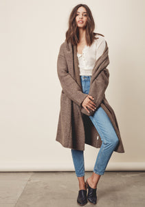 Joplin Pocketed Sweater Trench - Military
