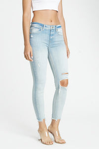Josie Mid Rise Skinny - Cold Blooded