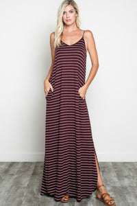 Livin' The Life Maxi Dress - Burgundy