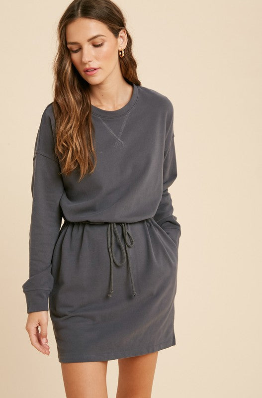 Off Duty Sweatshirt Dress