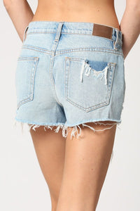 Perry Mid-Rise Cut Offs - Light Wash