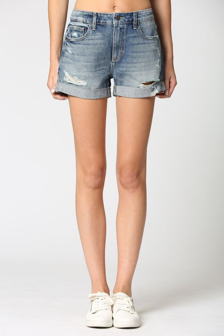 Riley Cuffed Denim Shorts