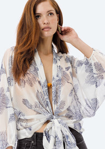 Shaded Palm Wrap Top