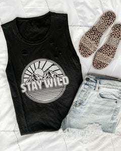 Stay Wild Tattered Tank