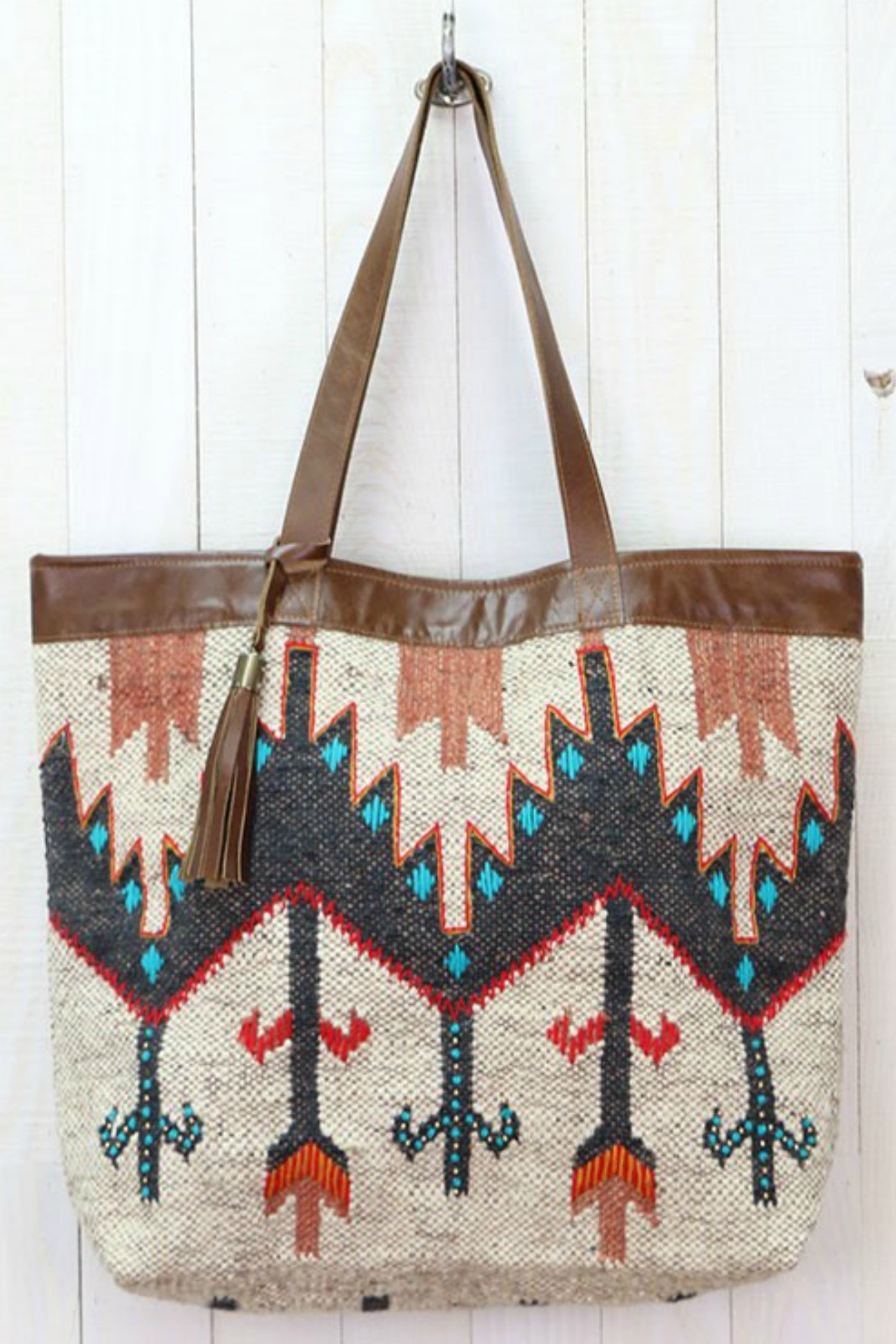 The Route Navajo Print Tote Bag