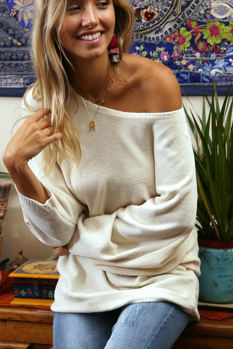 Chai Latte Boatneck Sweater