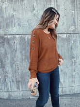Layne Button Shoulder Sweater