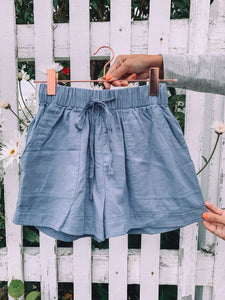 Meadow Cotton Pocketed Shorts - Cottonwood