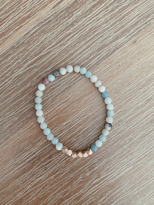 Starlight Beaded Amazonite Bracelet - 2