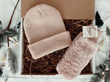 Snow Bunny Bundle - Beanie + Fingerless Mittens