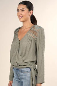 Savanna Side Tie Top - Sage