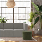 Modern Upholstered The Bruce 3-seater Sofa Lifestyle