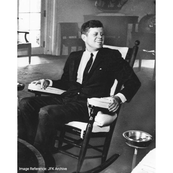 1960s, President John F Kennedy popularized the rocking chair