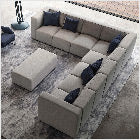 Modern Upholstered The Bruce 7-seater Sofa Lifestyle
