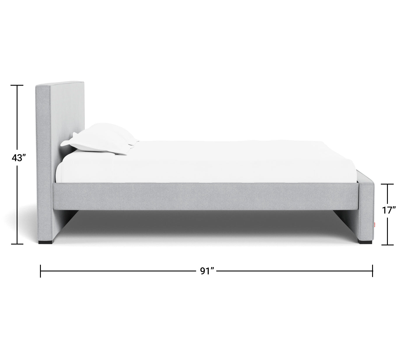 Modern Dorma Bed King Dimensions Side View