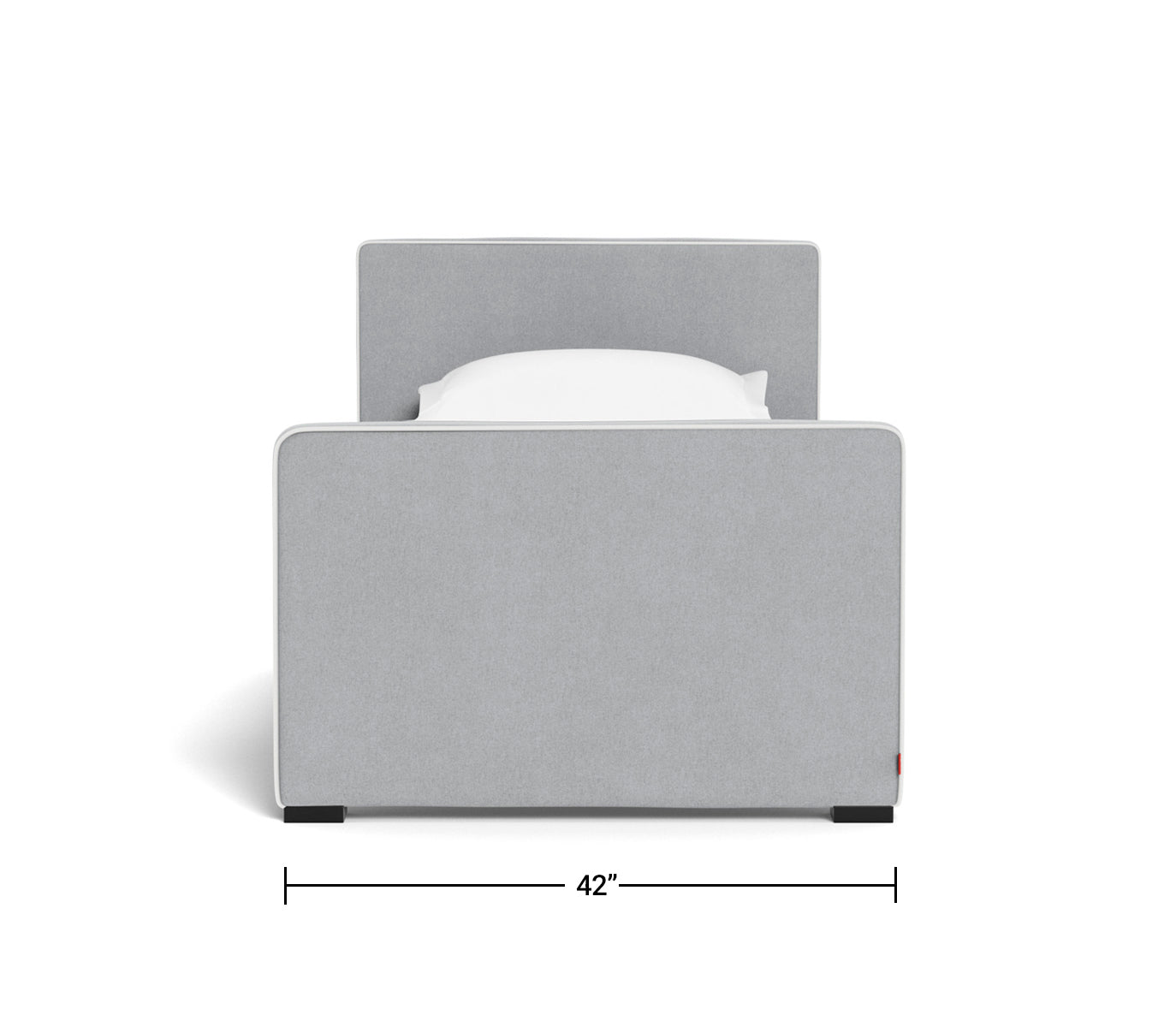 Modern Dorma Twin Full Upholstered Beds With Trundle By Monte