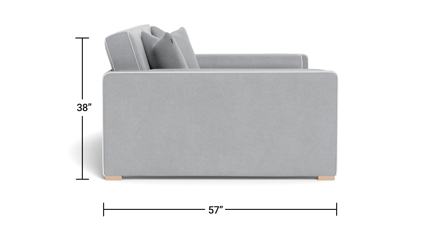Dorma Full DayBed - modern day bed sofa Dimensions Side View