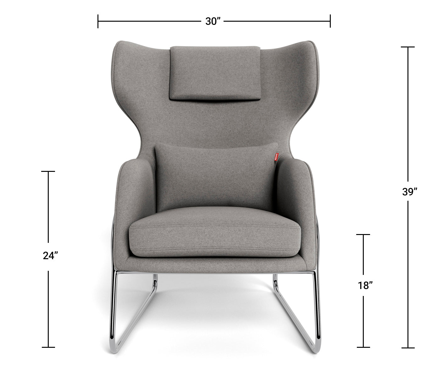 Modern Lounge Chair - Grand Jackson Lounge Dimensions Front View