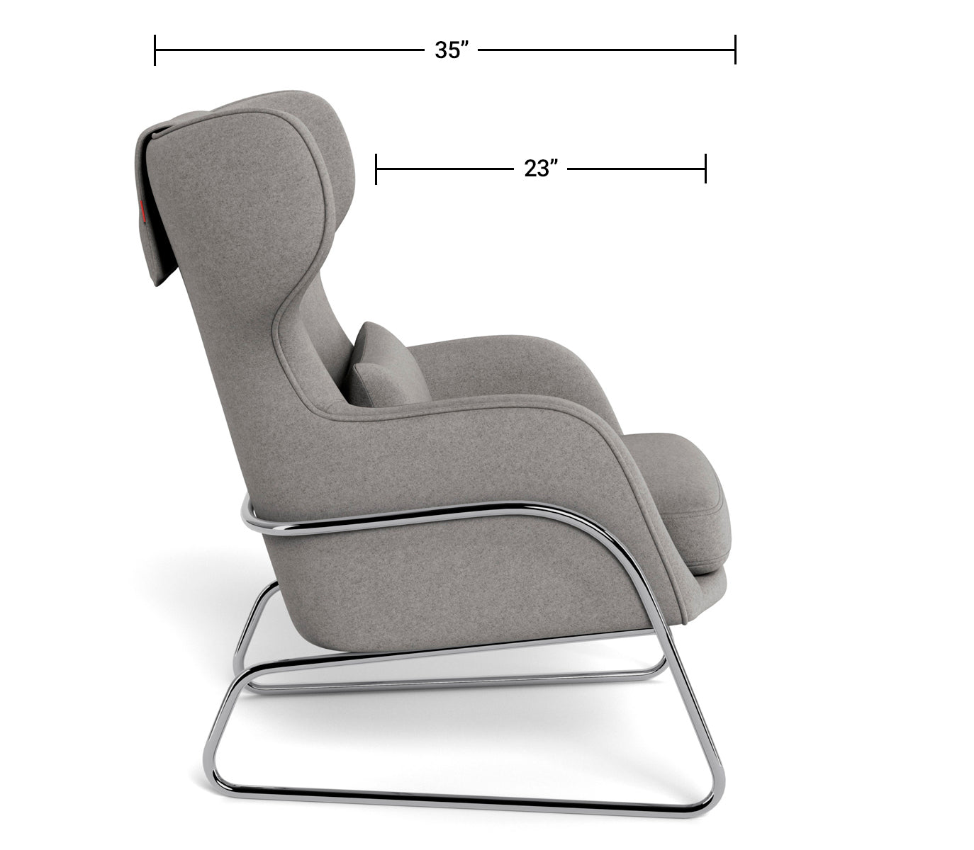 Modern Lounge Chair - Grand Jackson Lounge Dimensions Side View