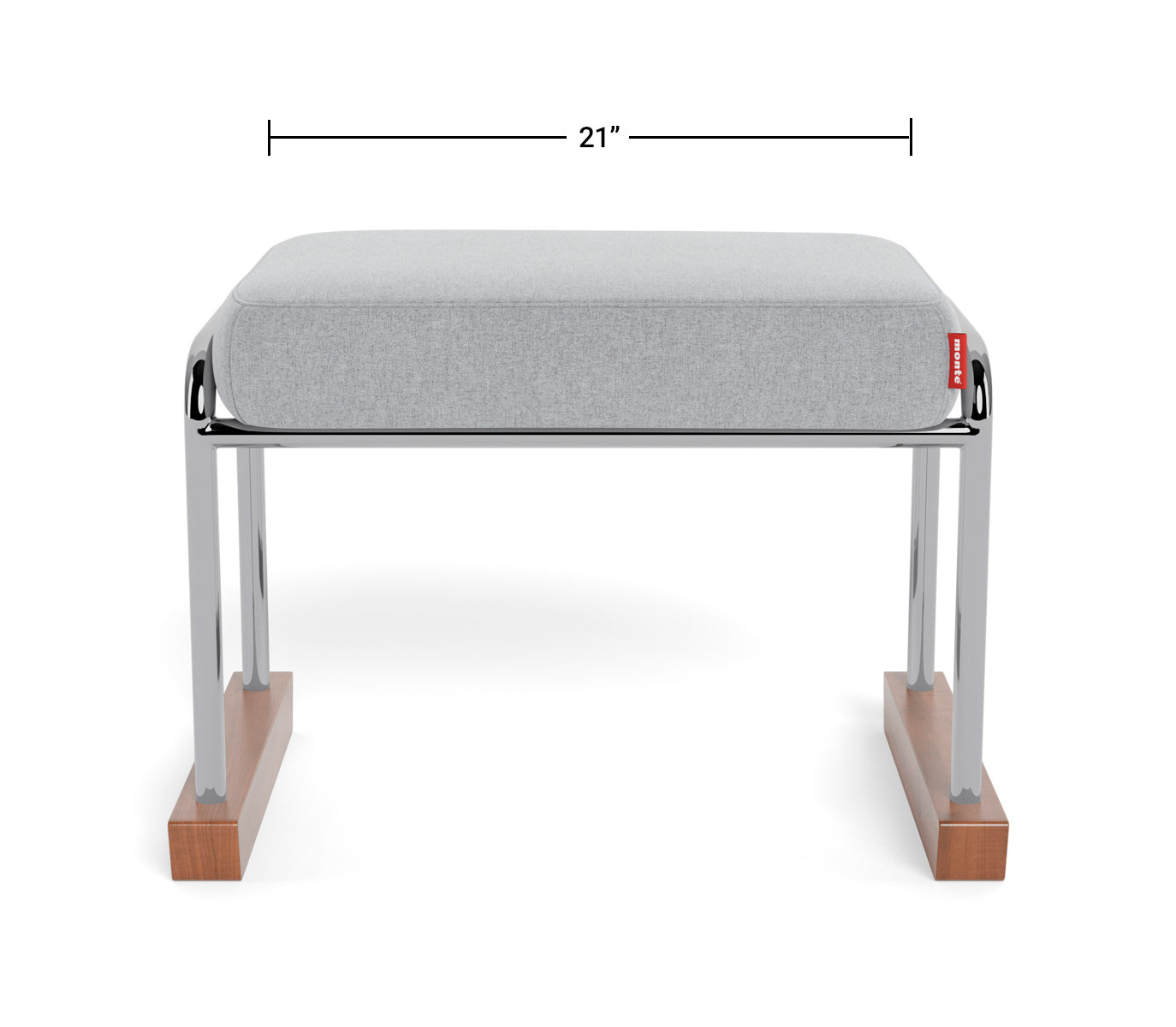 Modern Nursery Ottoman - Jackson Collection Ottoman Dimensions Front View