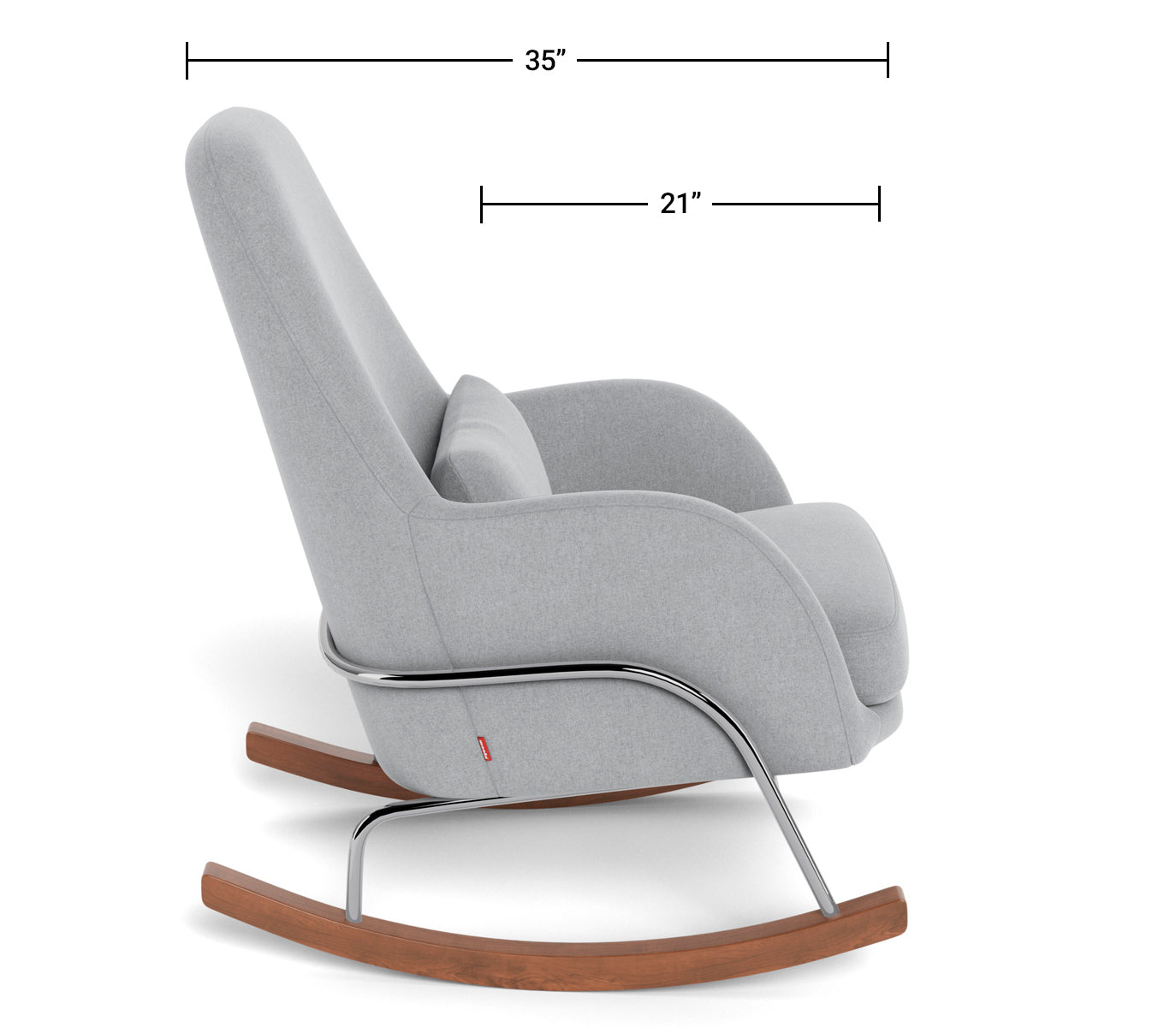 Modern Nursery Rocking Chair - Jackson Rocker Dimensions Side View