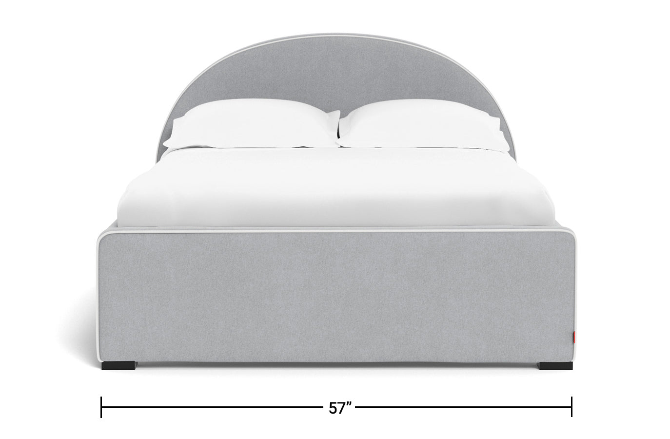 Modern Luna Bed Full Dimensions Front View