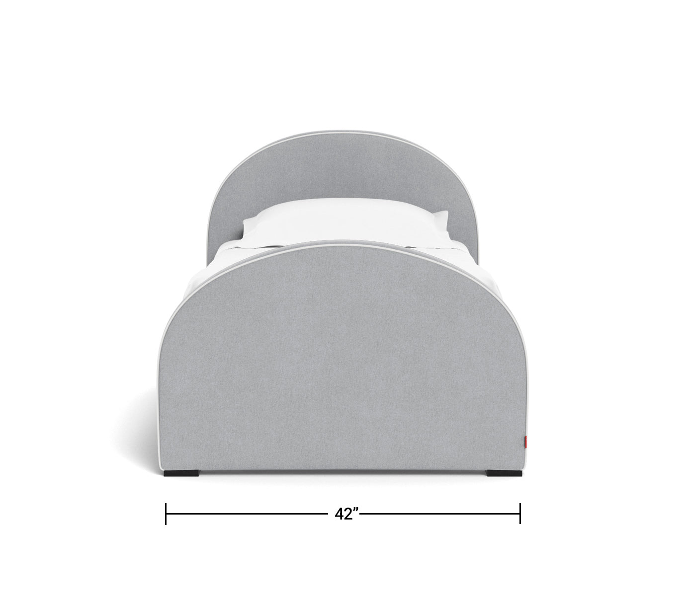 Luna Twin Bed Dimensions front view