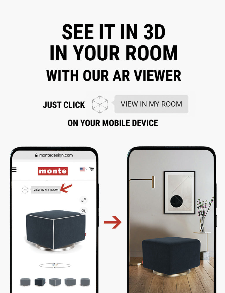 Monte AR - see Monte Como Ottoman in 3D in your room with our AR viewer