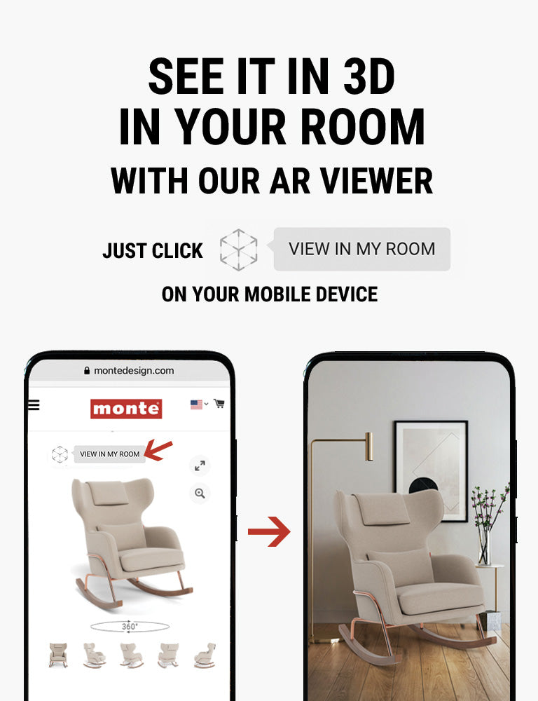 Monte AR - see Monte Grand Jackson Rocker in 3D in your room with our AR viewer