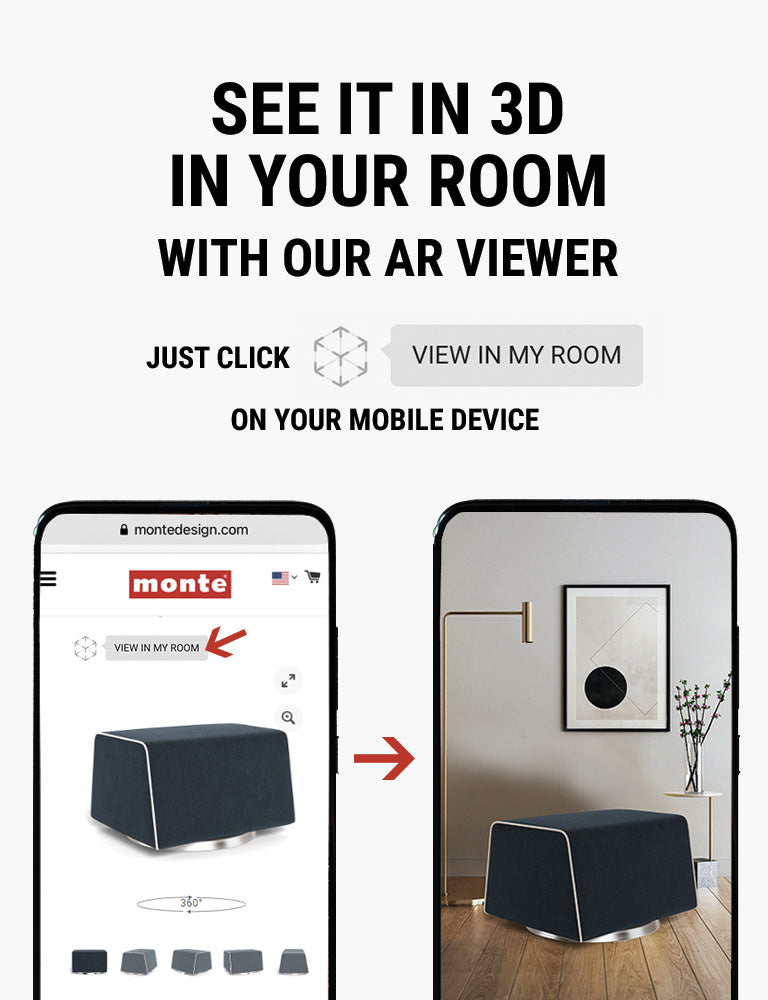 Monte AR - see Monte Grazia Ottoman in 3D in your room with our AR viewer