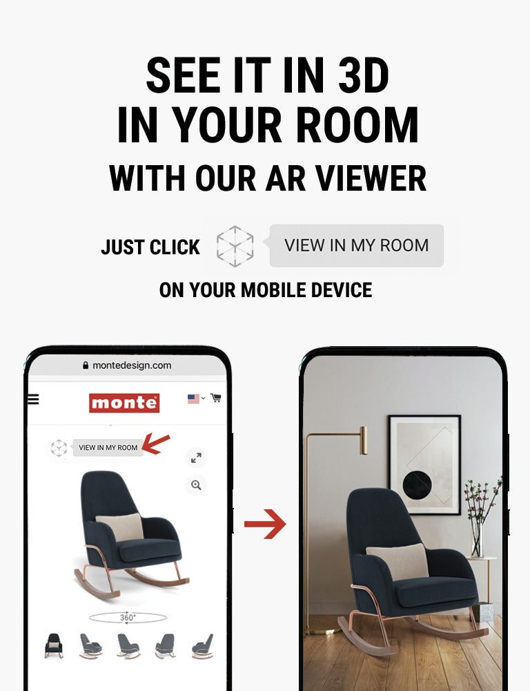 Monte AR - see Monte Jackson Rocker in 3D in your room with our AR viewer