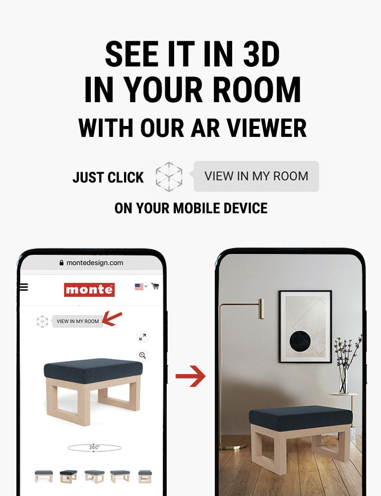 Monte AR - see Monte Joya Ottoman in 3D in your room with our AR viewer