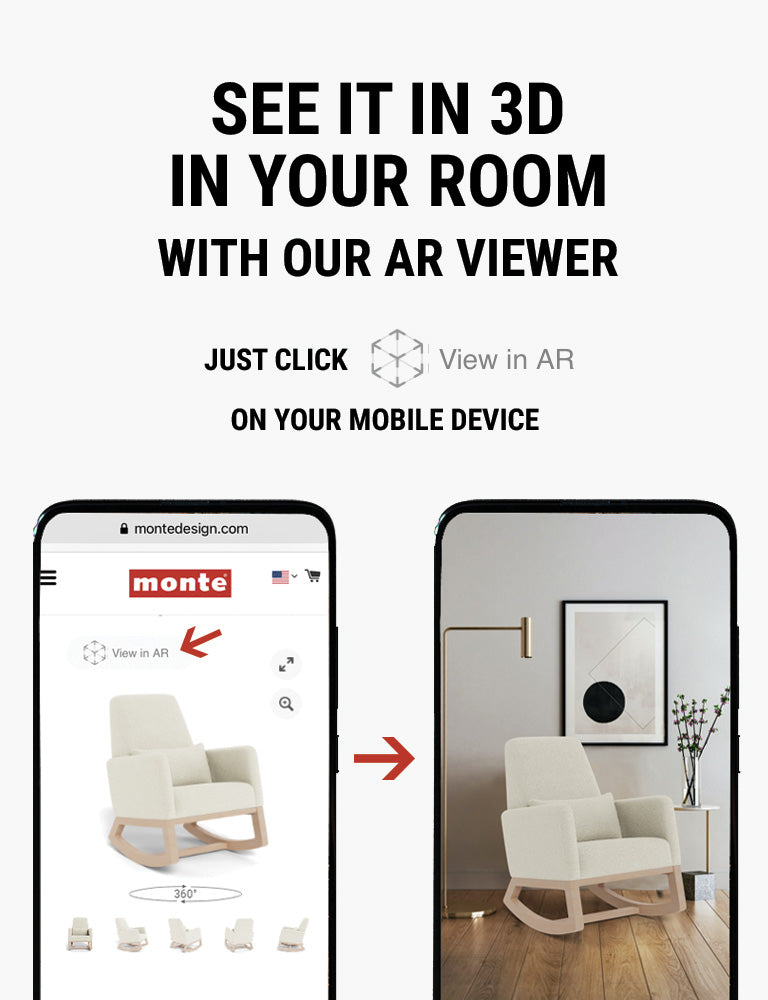 Monte AR - see Monte Joya Rocker in 3D in your room with our AR viewer