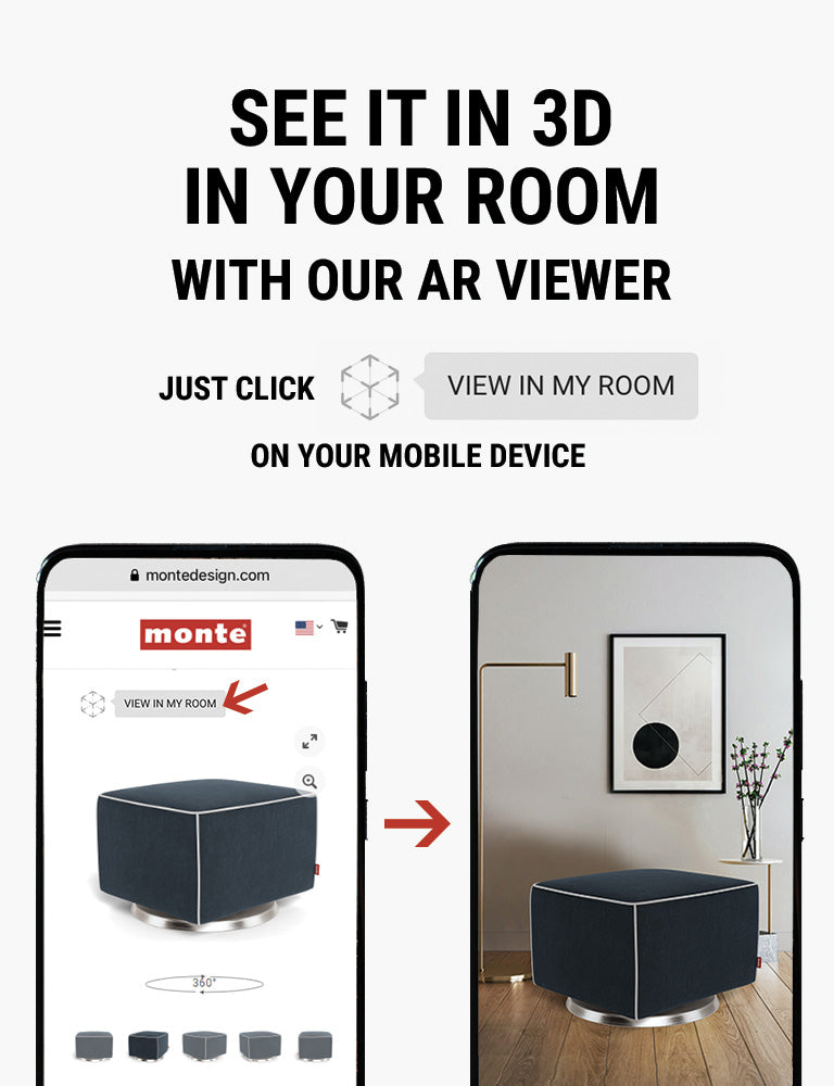 Monte AR - see Monte Luca Ottoman in 3D in your room with our AR viewer