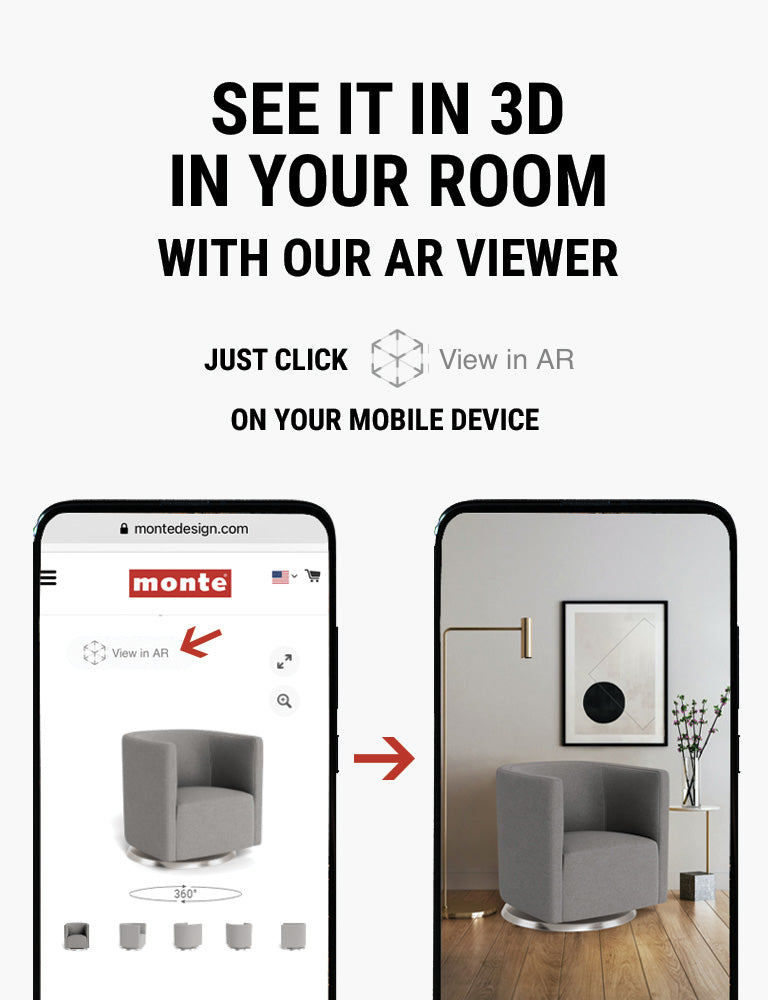 Monte AR - see Monte Mitchell Swivel in 3D in your room with our AR viewer